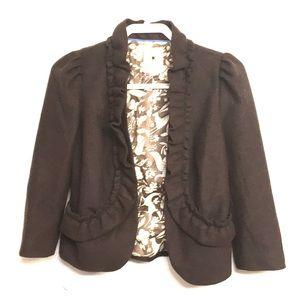 EUC Anthro Elevenses Brown Wool Blend Blazer